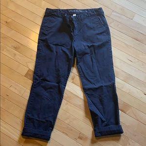 Gap navy blue ankle khakis